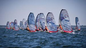 Pirita Beach windsurfing