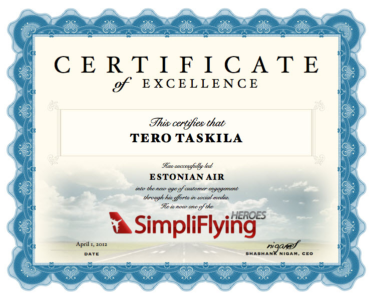 Estonian Air + SimpliFlying