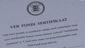 VEB Fund certificate