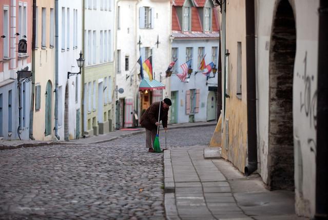 Cobbled-street